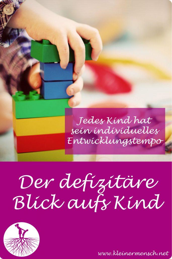 Der defizitäre Blick aufs Kind Entwicklung Vergleich Kind Wettbewerb