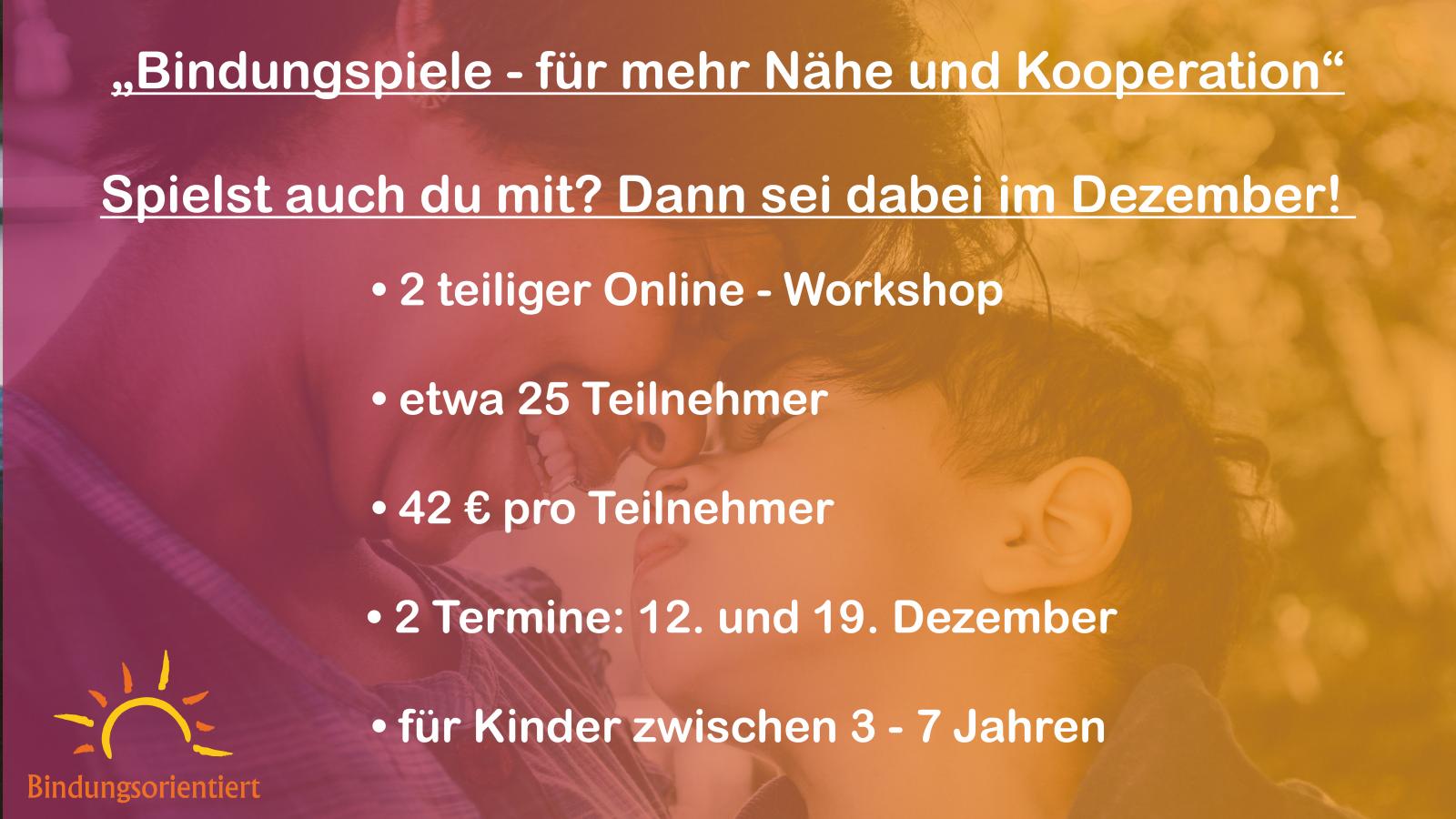 Workshop Bindungsspiele Dezember