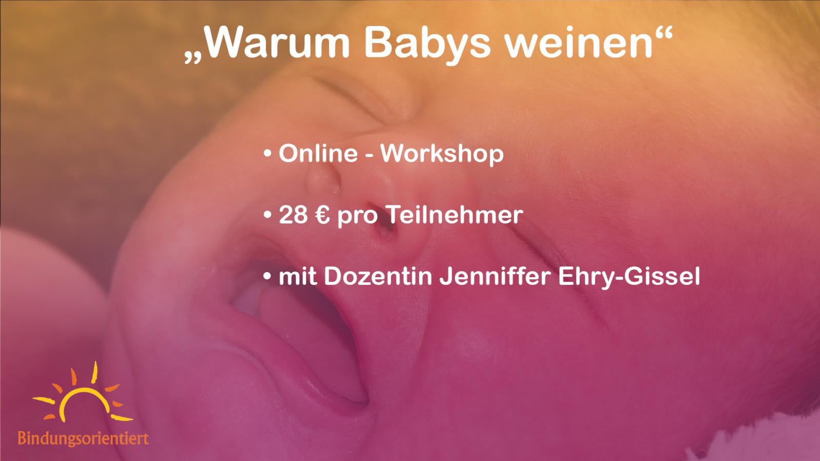 """Workshop """"Warum Babys weinen"""""""